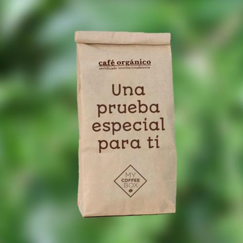 muestra gratis cafe organico mycoffeebox
