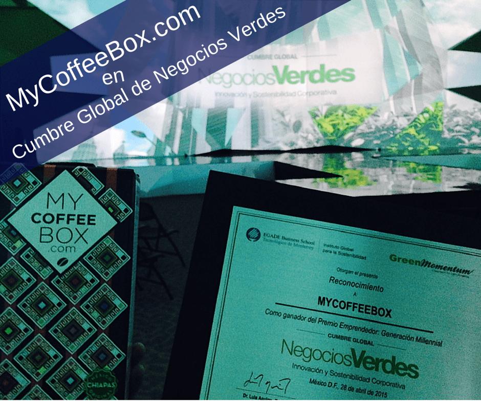 cumbre global de negocios verdes mycoffeebox premio emprendedor generacion millennial