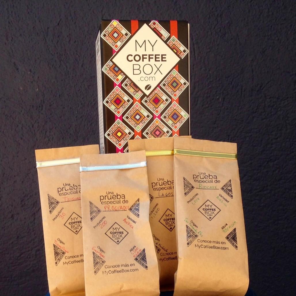 4 muestras my coffee box de cafe organico chiapaneco