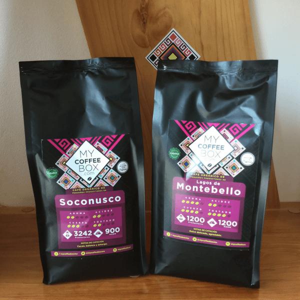 2 bolsas de cafe organico de chiapas mycoffeebox