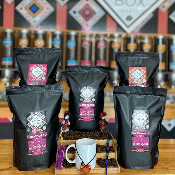 5 bolsas de cafe de chiapas en suscripcion mensual mycoffeebox