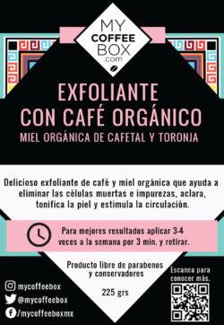 exfoliante con cafe organico de pequeños productores