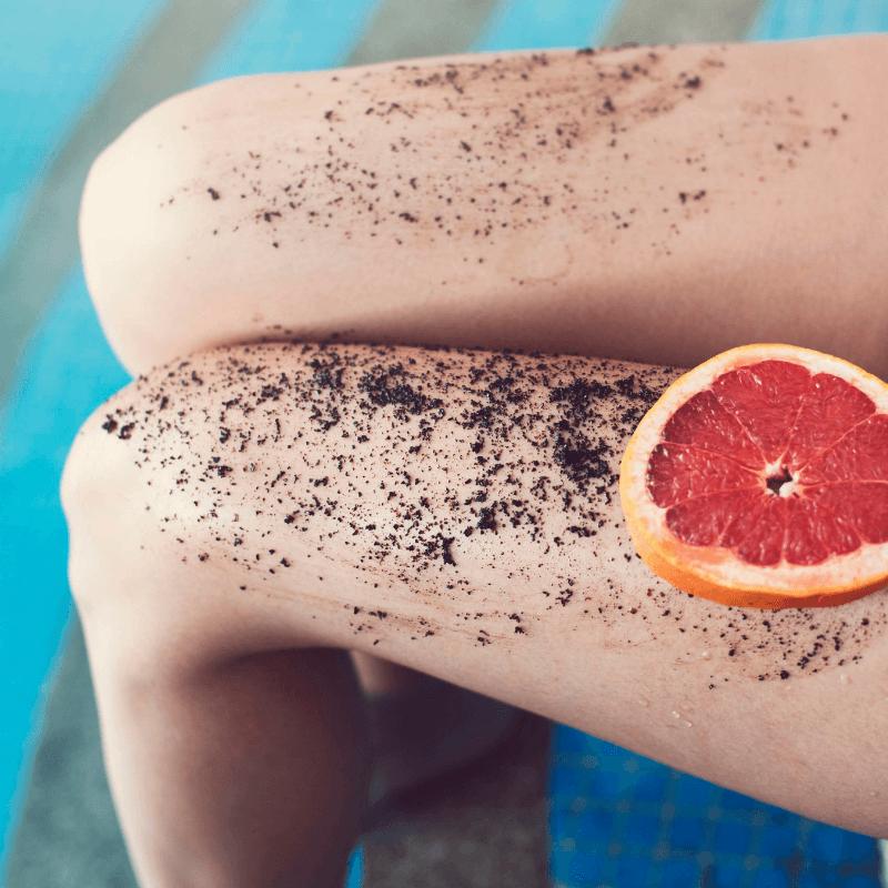 exfoliante con cafe organico y toronja celulitis piernas