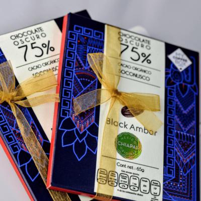 chocolate oscuro con cacao organico de chiapas mycoffeebox